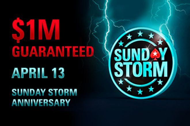 Qualify to PokerStars 3rd Anniversary Sunday Storm to Win a Share of Over $1 Million! 0001