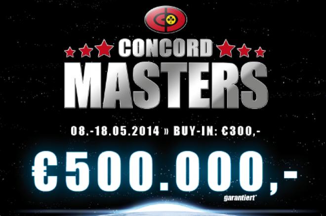 Concord Masters oslaví svou premiéru a nabídne garanci € 500,000! 0001
