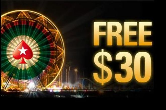 Free $30 od PokerStars