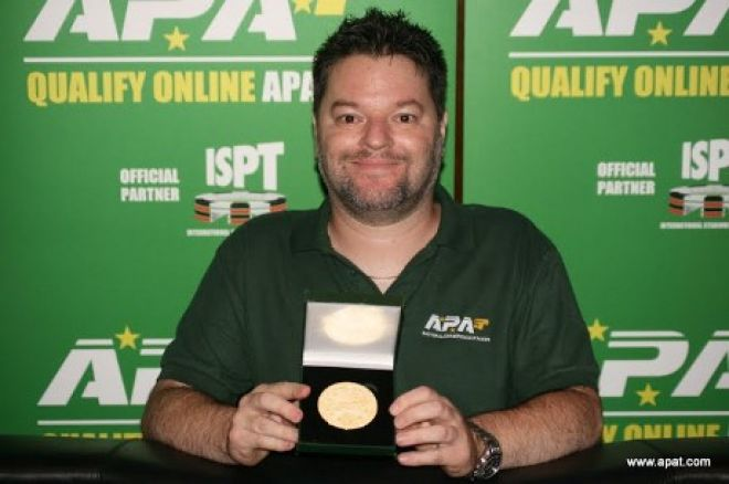 Prominent and popular APAT member Carl Pilgrim shows off his gold medal