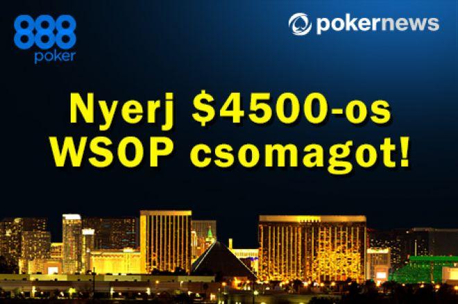 Nyerj $4.500-os WSOP csomagot csütörtöki exkluzív freerolljainkon a 888pokeren! 0001
