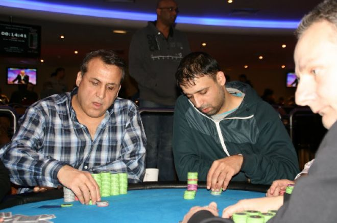 Mohammed Shoahebe (right, blue jacket) in action at the Dusk Till Dawn club