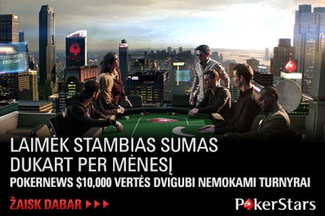 PokerStars kambaryje startuoja nauja PokerNews nemokamų turnyrų serija! 0001