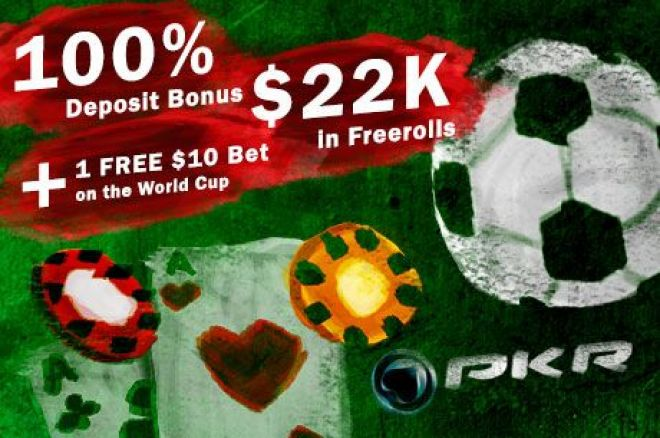 PKR Poker Makes Your World Cup Experience Even More Exciting with a FREE Bet! 0001