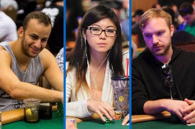 Mizzi, Liu, and Watson at 2014 WSOP Main Event