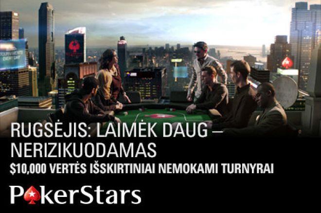 Prasidėjo kvalifikacija į $10,000 vertės nemokamą turnyrą PokerStars kambaryje 0001
