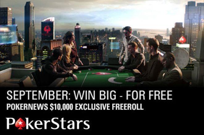 Zagraj zupełnie za darmo w turnieju o 10 000 dolarów na Pokerstars 0001