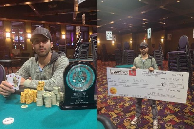 Sinan Tawfik wins Deerfoot Inn & Casino's Summer Super Stack Main Event