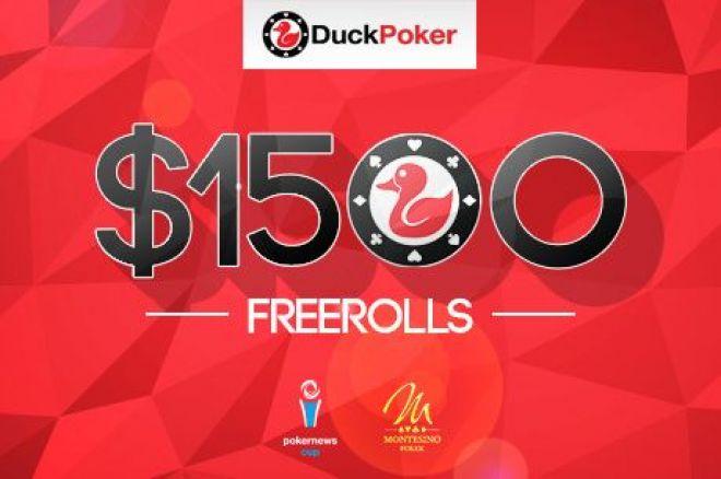Последен $1,500 PokerNews Cup фрийрол на 14 септември в Duck Poker 0001
