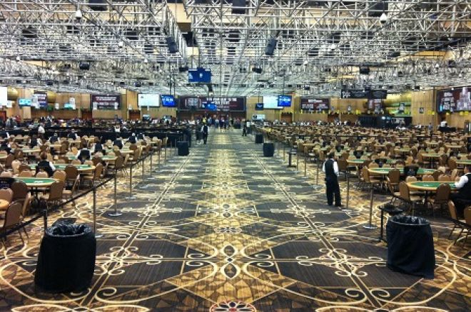 Empty WSOP tournament floor