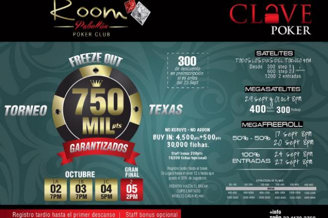 El 750K del Room  Poker Club en Guadalajara este 2 de Octubre 0001
