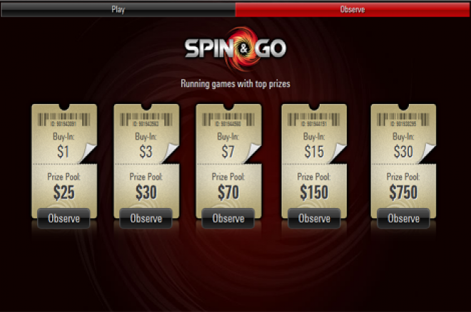 PokerStars Now Offers Spin & Go Lottery Tournaments 0001