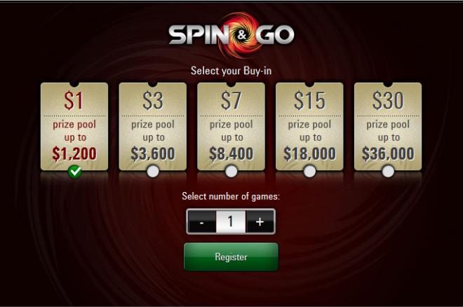 PokerStars patvirtino: Spin & Go žaidimų mokestis bus pats mažiausias 0001