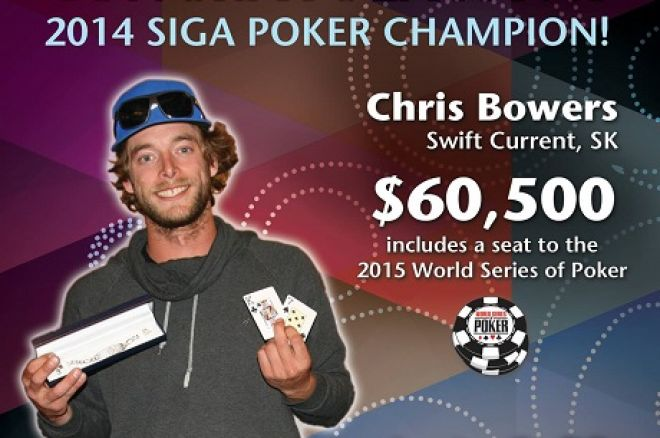 Chris Bowers SIGA Poker Championship
