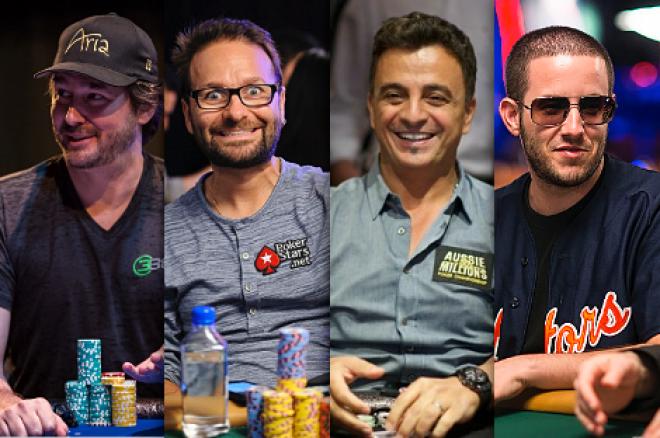 Phil Hellmuth, Daniel Negreanu, Joe Hachem