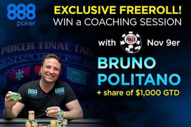 Win a Freeroll and Get Coached by November Niner Bruno Politano! 0001