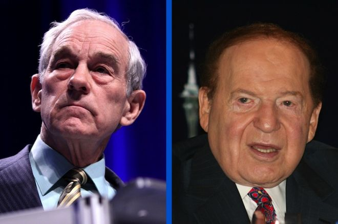 Ron Paul and Sheldon Adelson