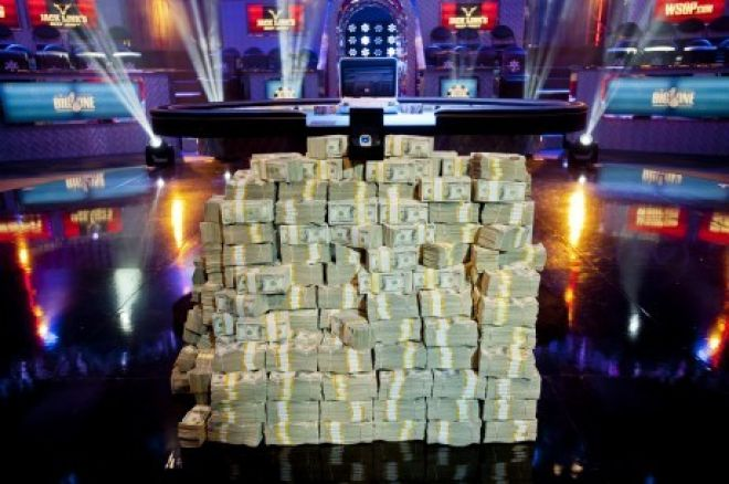 Pile of cash at the World Series of Poker