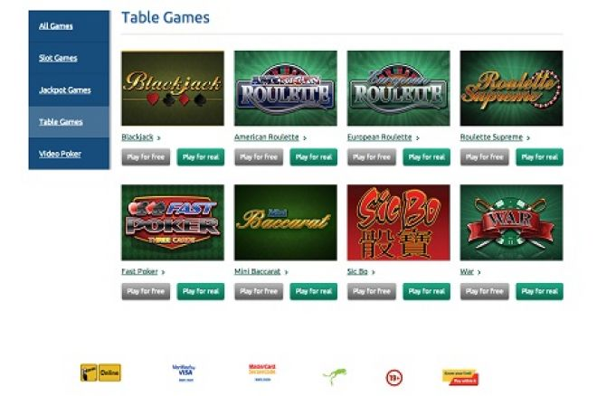 PlayOLG table games