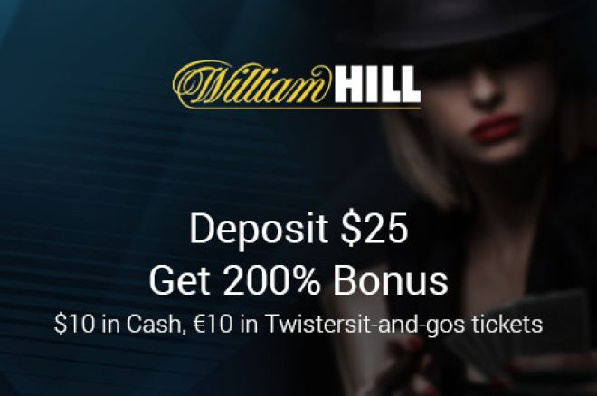 Atsiimk 20 eurų vertės naujoko pakuotę iš William Hill Poker 0001