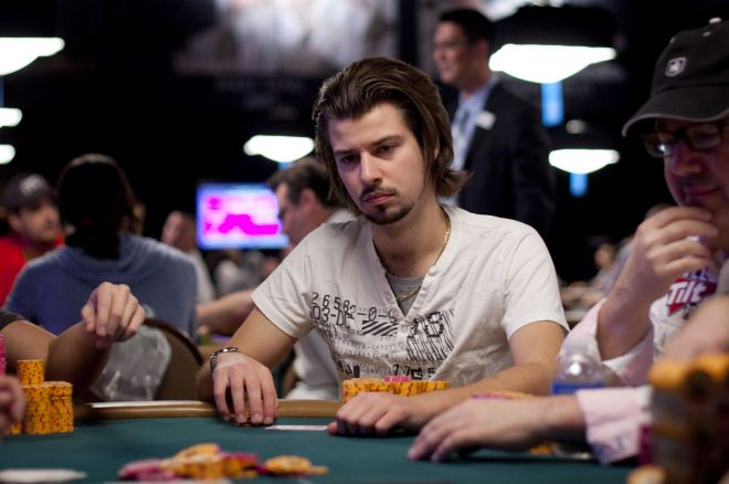 Disgraced poker player Darren Woods in action at the WSOP