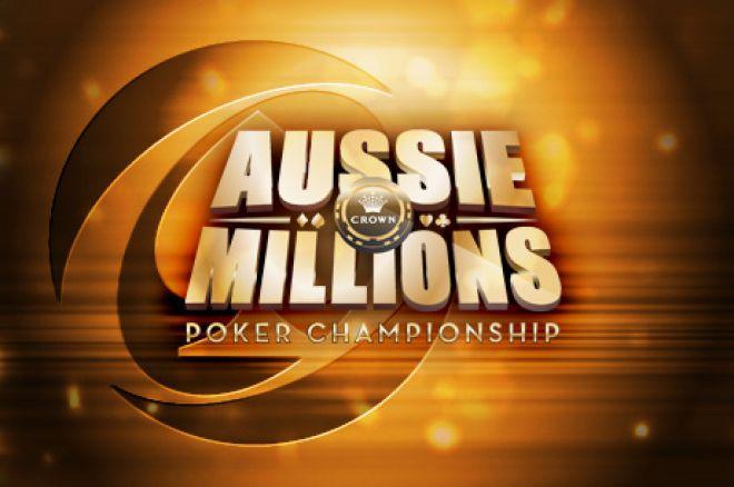 Jan Suchánek ve vedení po dni 1A v $10.600 Main eventu Aussie Millions 0001