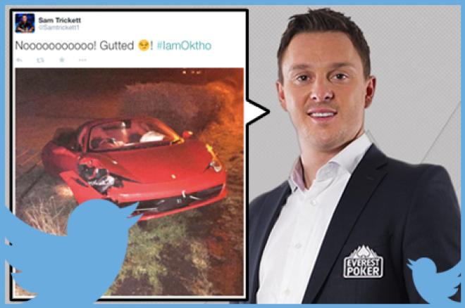 Tweet Tweet Bad Beat - Trickett rijdt zijn Ferrari aan gort, Negreanu kan leven met Lederer aan tafel