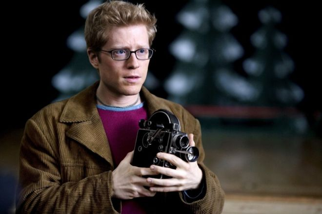 Anthony Rapp as Mark in the 2005 film adaptation of Rent.