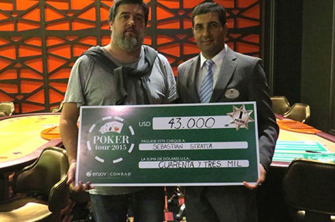 Sebastián Stratta fue el campeón de la séptima etapa del Conrad Poker Tour 0001