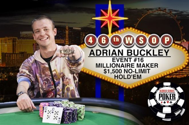 2015 WSOP World Series of Poker Adrian Buckley Millionaire Maker