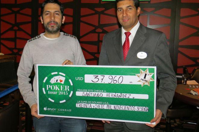 La octava fecha del Conrad Poker Tour fue para Santiago Hernández 0001