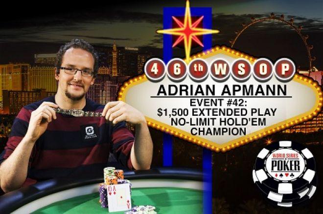 WSOP 2015 Adrian Apmann