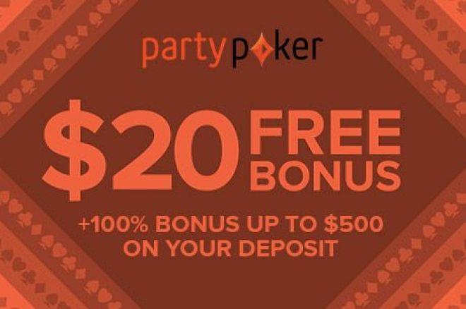 partypoker $20 FREE