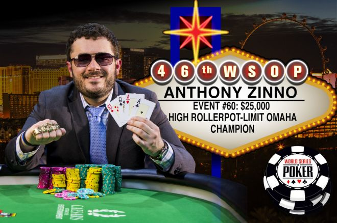 "WSOP: $25,000 Pot Limit Omaha ""High Roller"" turnyre nugalėjo Anthony Zinno 0001"