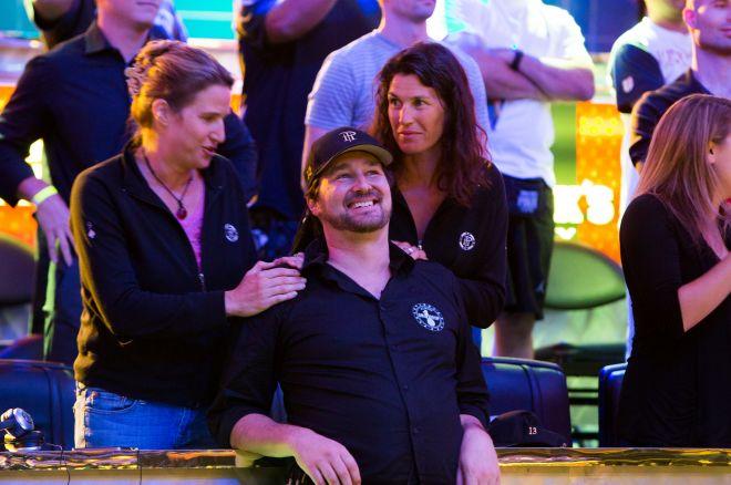 Photo de famille de la joueur de poker, marié à Katherine Sanborn, célèbre pour World Series of Poker, Poker After Dark.