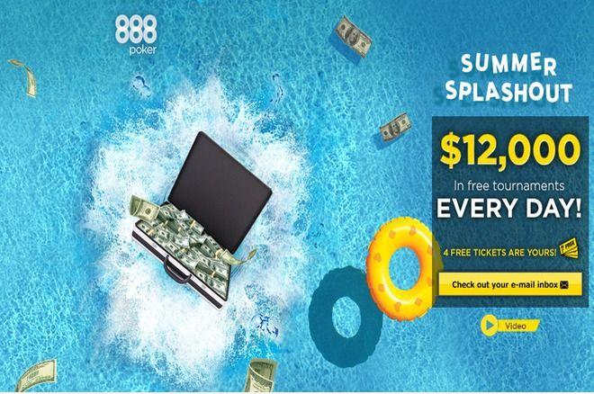 Prasidėjo 888poker SplashOut Serija - laimėk $12,000 kasdien 0001
