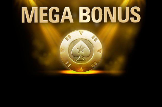 """PokerStars """"Megabonus"""" - garantuotas prizas už atliktą depozitą 0001"""