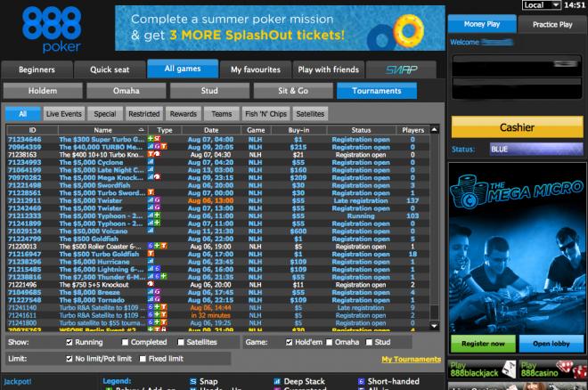 турнир на 888poker
