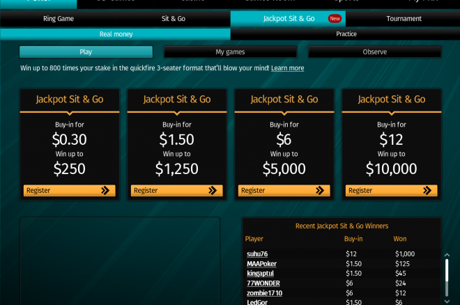 PKR Jackpot Sit&Go