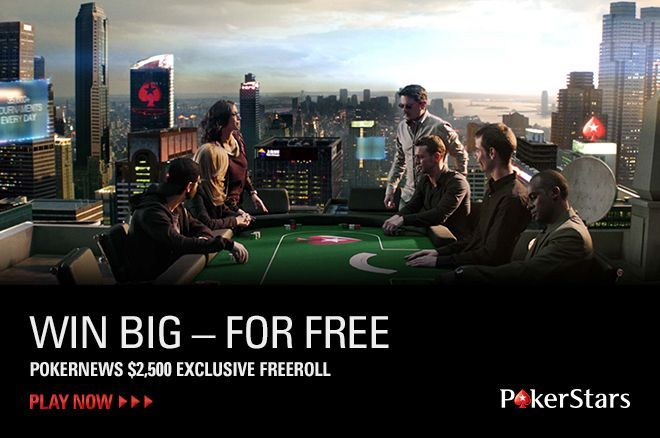 PokerNews $2.500 vertės Nemokamas Turnyras 0001
