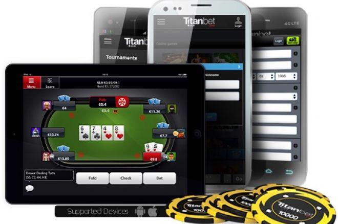 Mobiliąją aplikaciją pokeriui pristatė ir Titan Poker 0001