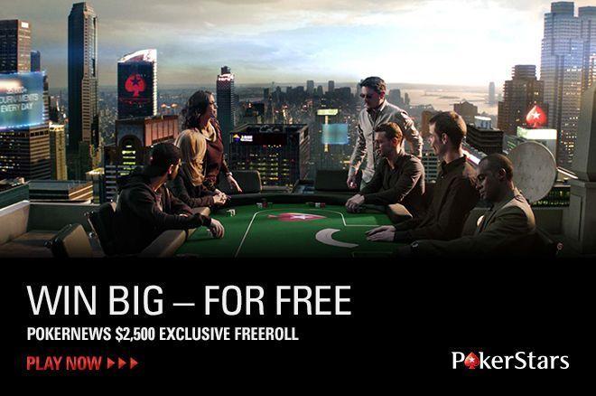 PokerNews $2.500 vertės Nemokamas Turnyras PokerStars kambaryje 0001