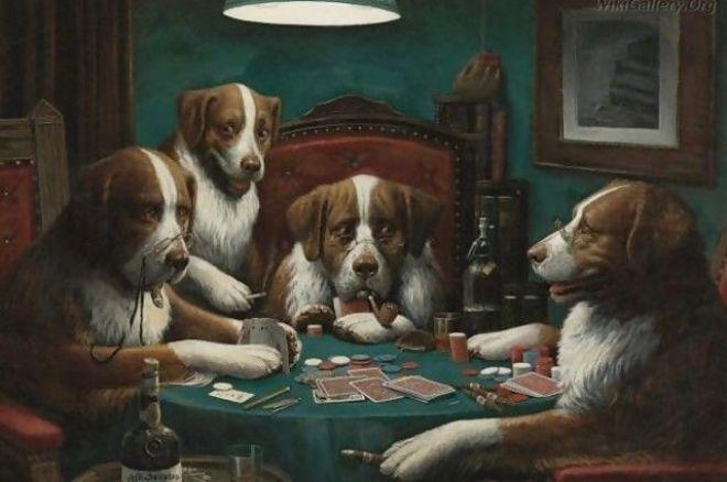 """Kiek vertas C.M.Coolidgo """"Poker Game"""" paveikslas? 0001"""