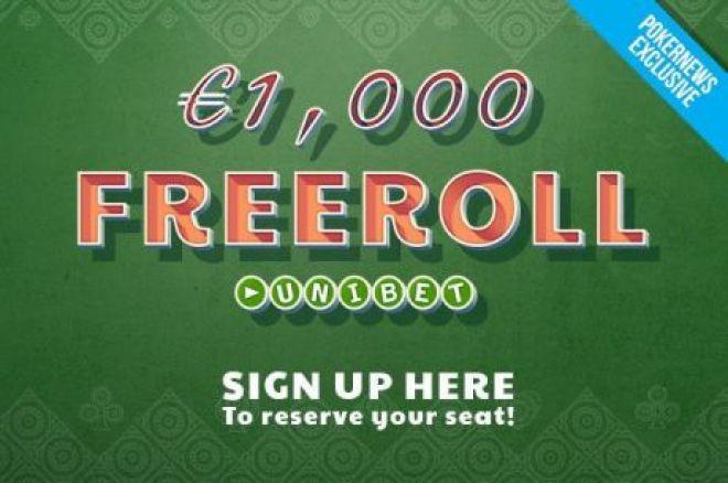 """Nepraleisk paskutinio šiais metais PokerNews """"€1K"""" nemokamo turnyro Unibet kambaryje 0001"""