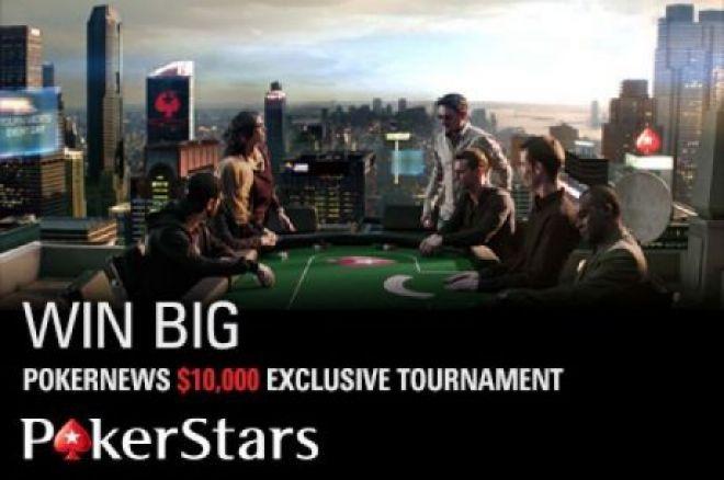 """Nepraleiskite šiandien įvyksiančio """"PokerNews $10k PokerStars"""" šventinio turnyro! 0001"""