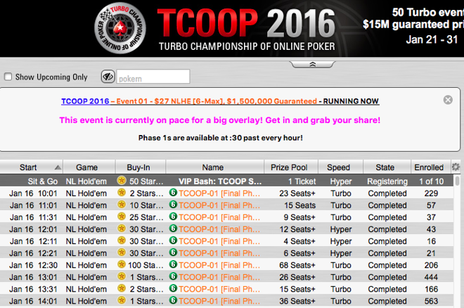 PokerStars TCOOP 2016