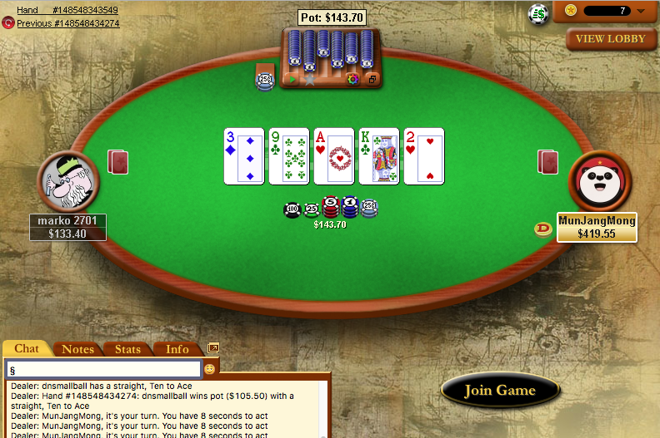 heads-up pokerstars