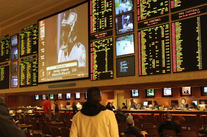 Odds boards in a Las Vegas sportsbook