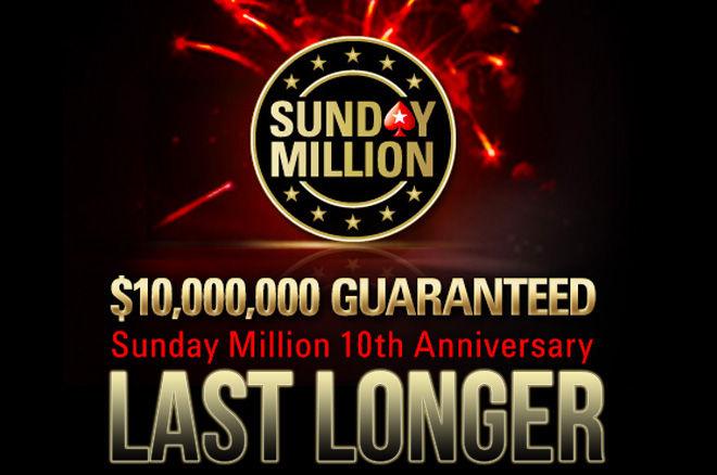 Win een 300-delige PokerStars chipset als je meedoet aan de Sunday Million Last Longer op het forum
