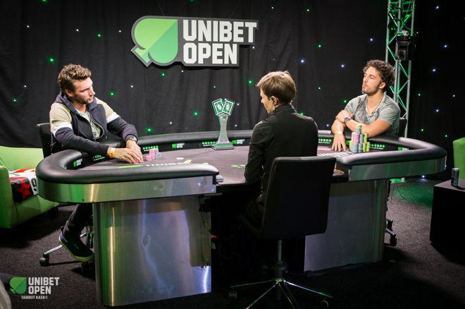 Mateusz Moolhuizen (z prawej) w heads-upie Unibet Opne